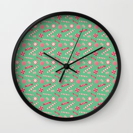 Seasonal Sweets Green Wall Clock