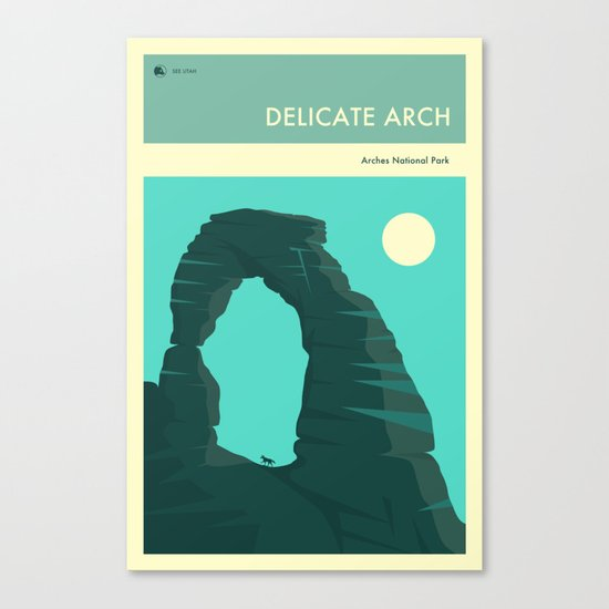 ARCHES NATIONAL PARK POSTER (Delicate Arch) Canvas Print