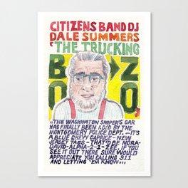 The Trucking Bozo Canvas Print