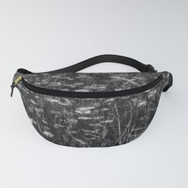 Black and White Queen Anne's Lace Hillside Fanny Pack