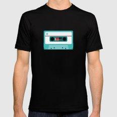#54 Cassette Mens Fitted Tee Black MEDIUM