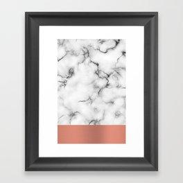 Marble & copper Framed Art Print
