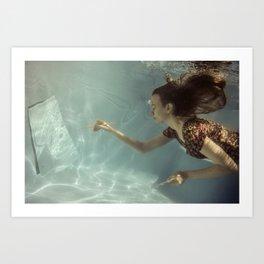 Water painting Art Print