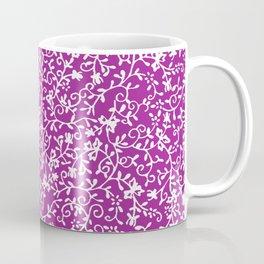 Purple white watercolor floral paisley illustration Coffee Mug