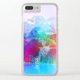 Sugar Bunny Mountain Clear iPhone Case