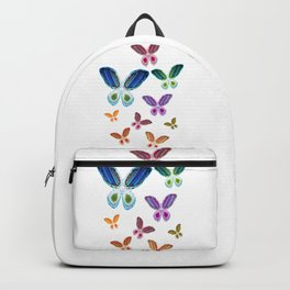 A Rainbow of Agate Butterflies Backpack