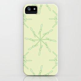 Abstract Samara Fruit Pattern iPhone Case