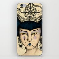 asia iPhone & iPod Skins featuring Asia by Priscila Floriano