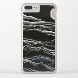 When the Mountains whisper to the Moon Clear iPhone Case
