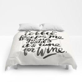 Coffee & Wine – Black Ink Comforters
