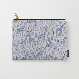 Blue Giraffe Pattern Carry-All Pouch