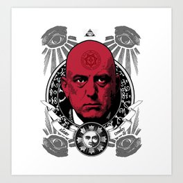 Aleister Crowley T-Shirts by LosFutbolko Art Print