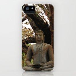 Buddha Statue at Abhayagiri Stupa 2 iPhone Case