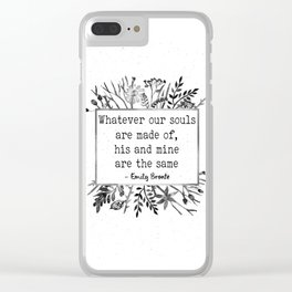 His and Mine Clear iPhone Case