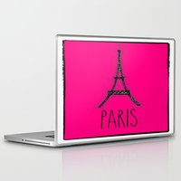 eiffel Laptop & iPad Skins featuring Eiffel by Vintage Fox