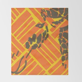 Screenprinted Giraffe Throw Blanket