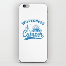 Wilderness Camper wb iPhone Skin