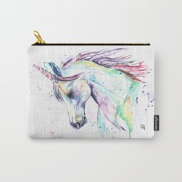 Colorful Unicorn Watercolor Painting - Kenzie's Unicorn Carry-All Pouch