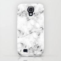 Samsung Galaxy S4 Case featuring Real Marble by Grace