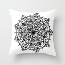 Mandala: ornate and detailed Throw Pillow