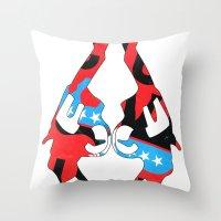 guns Throw Pillows featuring Kong Guns by launa