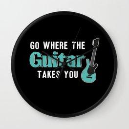 Go Where The Guitar Takes You Wall Clock