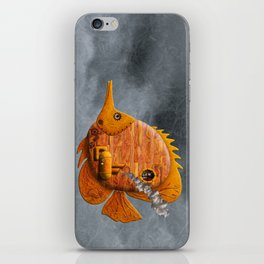 Steampunk Butterflyfish II iPhone Skin