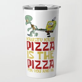 Krusty Krab Pizza Travel Mug