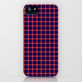 Maasai Shuka - Blue & Red iPhone Case