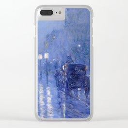 Childe Hassam - Rainy Midnight Clear iPhone Case