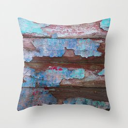 Peeling Paint Throw Pillow