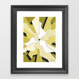 Mono Pattern | The Fragments Framed Art Print