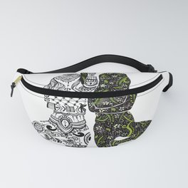 Yin Yang duality interconnected Fanny Pack