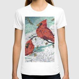 Cardinals In Winter T-shirt