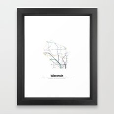 Highways of the USA – Wisconsin Framed Art Print