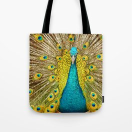 The plumage of the peacock Tote Bag