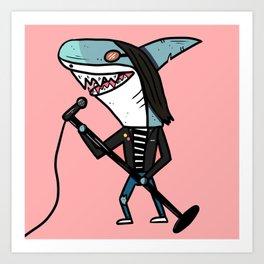 Joey Shark Art Print