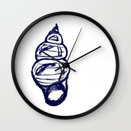 Seashell Sketch Wall Clock
