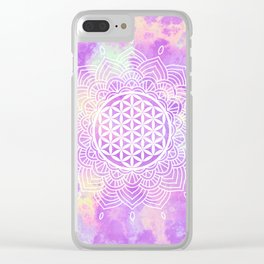 Flower Of Life (Soft Whispers) Clear iPhone Case