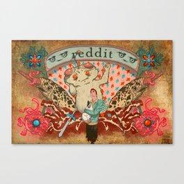 Reddit Poster Canvas Print