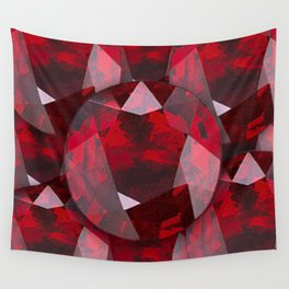 RED GARNET GEMS JANUARY BIRTHSTONE Wall Tapestry