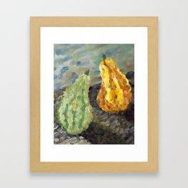 Squash in Oil Framed Art Print