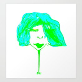 Claire in green Art Print