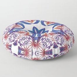 Red Palm Spin Floor Pillow