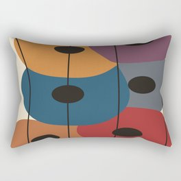 Big Artsy Circles Rectangular Pillow