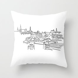 Vyšehrad - View from the castle Throw Pillow