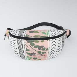 Pattern flowers and cactus Fanny Pack