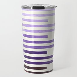 Purple Watercolor Gouache Minimalist Geometric Staggered Stripes Mid Century Art Travel Mug