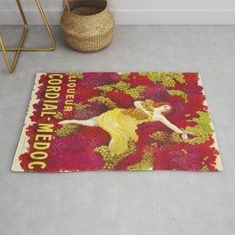 Vintage Italian Cordial Médoc Advertisement Poster by Leonetto Cappiello Rug
