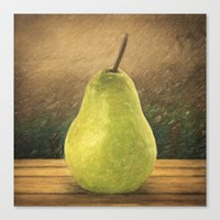 pear Canvas Prints featuring Pear by Taylan Soyturk